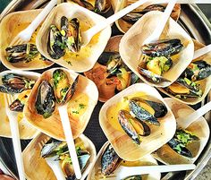 Chef Thierry Rautureau shared his steamed mussel dish during the James Beard Foundation's Taste America Tour presented in association with The Ritz-Carlton Rewards Credit Card. A good rule of thumb for preparing mussels is that they only take 3-5 minutes to cook and you should discard any that haven't opened after 5-6 minutes.