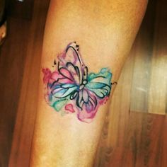 Watercolor butterfly tattoo 😍😍
