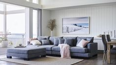 Buy Manhatten Fabric Modular Lounge Suite | Harvey Norman AU