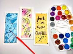 DIY: Bookmarks & Watercolor Techniques for Beginners   Watercolor DIY   How To Make Bookmarks - YouTube