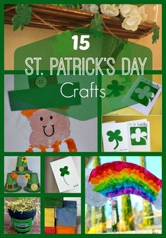 Get in the festive spirit with these 15 fun and creative St. Patrick's Day kids' crafts including leprechauns, rainbows, clovers and more! St Patrick's Day Crafts, Holiday Crafts For Kids, Easy Crafts For Kids, Thanksgiving Crafts, Diy For Kids, March Crafts, Children Crafts, Classroom Crafts, Preschool Crafts