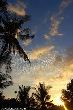 Sunset near Gunung Agung, Bali