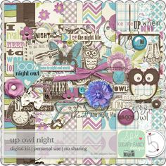 Up Owl Night full kit freebie from Sugary Fancy Designs