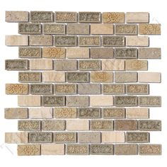 Using this in the hall bathroom.  Coastline Sand Dollar Brick Subway Staggered - Combo Mix Crackle Jewel Glass Tile, Natural Stone, Resin Decos