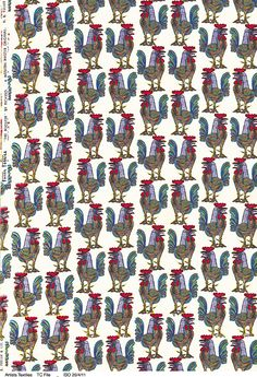 Pablo Picasso 'The Rooster' for Fuller Fabrics, 1955 Picture: Courtesy Target Gallery Textile Patterns, Textile Design, Print Patterns, Textiles, Bird Patterns, Raoul Dufy, Pattern And Decoration, Mid Century Art, Painting Wallpaper