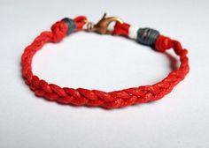 Braided red bracelet