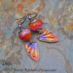 Beautiful Butterfly Wing Earrings. A Kaleidoscope of Butterflies Earrings Everyday. #KristiBowmanDesign