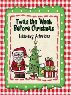 These Christmas literacy activities will make the final week before Christmas fun and educational!  Enjoy five days of literacy lessons that correlate with popular Christmas picture books!  Your students will love the activities as they anticipate Christmas break!