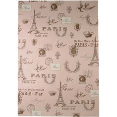 Pink Paris Cavallini Papers Decorative Wrap