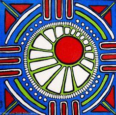 Hayden's Adventure. Mandala art by Stephanie Smith. Like Stephanie Smith's Mandala Art on Facebook or visit biffybeans.com
