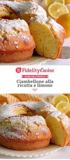 Ciambellone alla ricotta e limone Burritos, Baking Recipes, Dessert Recipes, Torte Cake, Cupcake Cookies, Food Inspiration, Italian Recipes, Sweet Treats, Good Food