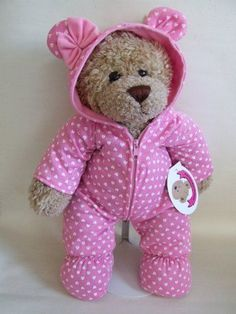 3958e65b9b64 Build a Bear fit Pink Onesie Outfit Teddy Bear Clothes for Teddies by Build…