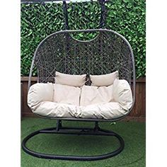 Super range of Hanging Egg Chairs & Cocoon Garden Swing Chairs That Are Unique & trendy That Provide comfoort And Ultimate Relaxation for outdoor/ indoor. Egg Swing Chair, Hanging Egg Chair, Swinging Chair, Indoor Outdoor, Outdoor Decor, Ways To Relax, Reduce Stress, Bedroom Inspo, Cushions