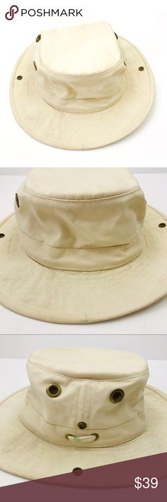 aa589c02 See more. Tilley Hat Duck Cotton Outdoor Hiking Size 7 5/8 Tilley Hat Cream  Colored Outdoor