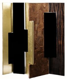 This distinctive folding screen is so elegant that can be easily placed in your home. Avenue is a striking piece that attracts attention and lightens the mood in any space.    www.bocadolobo.com #bocadolobo #luxuryfurniture #exclusivedesign #interiodesign #designideas #contemporary #contemporarydesign #livingroomideas #Avenue #foldingscreen #gold #goldleaf