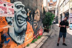 Athens Street Art tour, Dopios  #streetart