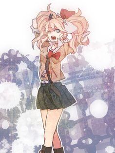 My hope is despair Danganronpa 3, Danganronpa Characters, Asuna, Cool Animes, Chibi, Pink Blood, Danganronpa Trigger Happy Havoc, Character Design Inspiration, Character Art