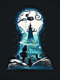 Book of Wonderland - Alice im Wunderland-T-Shirt - Die Shirt-Liste - Book o. - Book of Wonderland – Alice im Wunderland-T-Shirt – Die Shirt-Liste – Book of Wonderland - Art Disney, Disney Kunst, Disney Love, Disney Artwork, Alice In Wonderland Drawings, Alice And Wonderland Quotes, Wonderland Party, Disney Drawings, Art Drawings