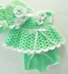 a0ac47e32 Los vestidos de nena a crochet para que luzcan como muñecas