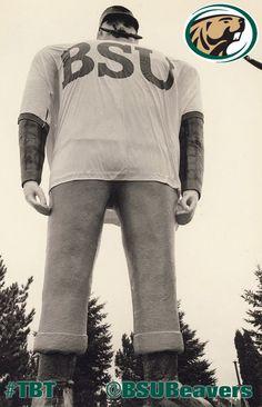 Paul Bunyan sporting Bemidji State University jersey, c Bemidji State University, Bemidji Minnesota, Paul Bunyan, Going Home, Throwback Thursday, Ox, Babe, Nurse Life, History