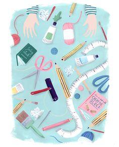 Editorial for 91 magazine -Mia Dunton Illustration www.miaduntonillustration.co.uk