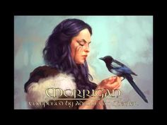 """Morrígan by Adrian von Ziegler from YouTube. The Morrígan (""""phantom queen"""") or Mórrígan (""""great queen""""), is a figure from Irish mythology who appears to have been considered a goddess. The Morrígan is a goddess of battle, strife, and sovereignty. She sometimes appears in the form of a crow, flying above the warriors. She is generally considered a war deity comparable with the Germanic Valkyries,"""
