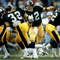 Terry Bradshaw and Franco Harris, Pittsburgh Steelers