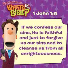 Daily Verse 1 John 1:9. whatsinthebible.com