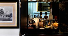 Connaught suite drinks cabinet