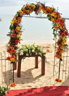 Arch for Beach Blessings .