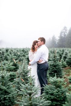 Christmas tree farm wedding | Christmas wedding | 100 Layer Cake