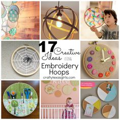 17 Creative Ideas using Embroidery Hoops