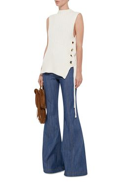 Raw Denim Flared Jeans by DEREK LAM 10 CROSBY Now Available on Moda Operandi