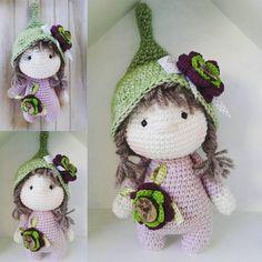 Ich hab noch eine kleine Beschützerin zu vergeben.. sie heißt Greta und würde sich über ein neues zu Hause freuen.. Little Greta is looking for a new home.. #crochetwithlove #crochet #crochetlove #babygirl #babygift #birthdaypresent #forlittlegirls #yarnlover #marleensmadeforyou #beschützer #wichtel #zwerge #amigurumidoll #dollmaker ##häkelpuppe #madewithlove #flowers #sweetlittlegirl