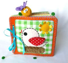 Quiet book for babies and toddlers cotton by Visotskayahandmade