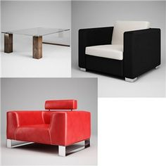 Free 3D Model: Furniture 02, 22, and 29 from CGAxis Vol. 17