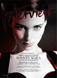 Rooney Mara cover Interview magazine, March 2013. photographed by Mikael Jansson.