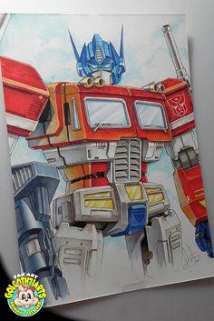 Voilà une commission de Optimus prime que j'ai réalisé aux #GraphitMarker #Graph'it #transformers #optimusPrime