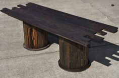 Ultimate Mancave Coffee Table from Recycled Materials - tutorial