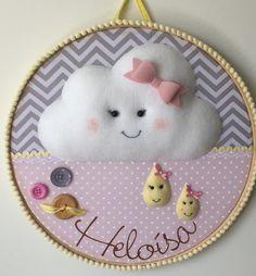 Quadro Bastidor Maternidade Nuvem