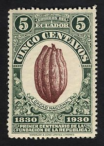 5c Cacao Pod single. 1930, Ecuador