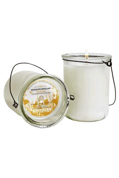 This scent is the perfect combination of warm cedarwood and cool grass. It is packaged in a unique hanging glass, this soy blend candle boasts fragrance blends golden violet wood and vanilla orchid for a perfect scent to enjoy outdoors on those warm evenings and naturally keeps the bugs away.    7 oz   Marigold Mosquito-Repellant Candle by RENDR. Home & Gifts - Home Decor - Candles & Scents Texas