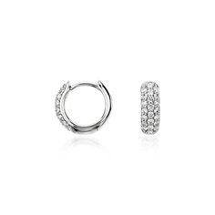 I love these earrings, they are perfection! Pavé Hoop Earrings in 14k White Gold (1/3 ct. tw.)