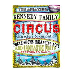 GreenBox Art 'Family Circus' by Shelly Kennedy Vintage Advertisement on Canvas | AllModern