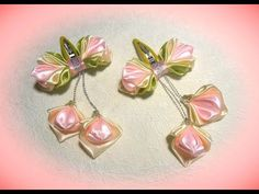DIY how to make hairpin for girl, kanzashi flower. - YouTube