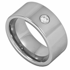 10MM Pipe Cut Men's Tungsten Wedding Ring w/ Simulated Diamond. Engraving for this item is available at #ringninja. $79.99.       http://ring-ninja.com/tungstenring-rntu088.html