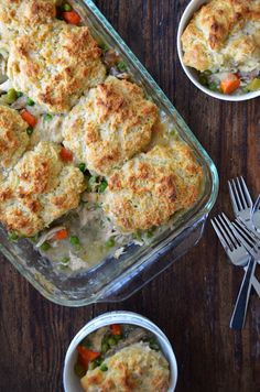 Leftover Turkey Pot Pie with Cheddar Biscuit Crust
