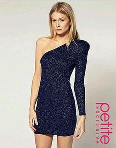 Sexy dark blue dress