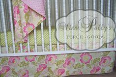 Custom Baby Crib Bedding Design Your Own  by MissPollysPieceGoods, $260.00