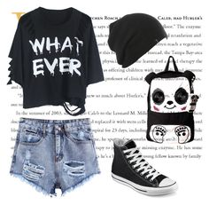 """""""Untitled #31"""" by sabanovicelma ❤ liked on Polyvore featuring Converse"""